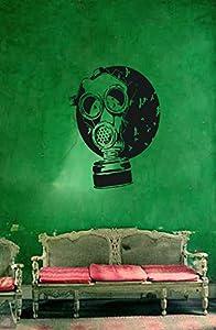 STICKERSFORLIFE Ik177 Wall Decal Sticker Decor Gas Mask Apocalypse Postapokalipsis Interior Living