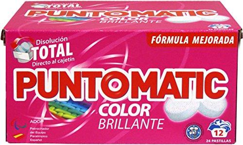 Puntomatic Detergente en Pastilla Ropa Color - 12 Lavados