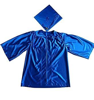 Grad Days Kindergarten Graduation Gown Cap Tassel 2021 Shiny Royal Blue 24 3 3  -3 5