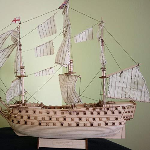 SIourso Maquetas De Barcos De Madera Bricolaje Madera Ensamblada Victoria Royal Navy Ship Velero Modelado Juguete Decoración