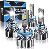Fahren H11/H9/H8 Low Beam 9005/HB3 High Beam LED Headlight Bulbs Combo, 20000 Lumens 6500K Cool White Super Bright LED Headlights Conversion Kits IP68 Waterproof, Pack of 4