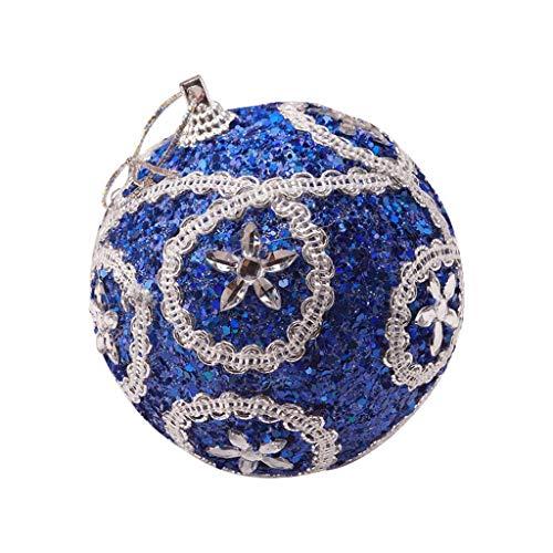 JiaMeng-ZI Decoracion del hogar Diamante de imitacion Lentejuela Bolas de Navidad Decoracion de Adornos de arbol de Navidad Arreglo de Escena Decoracion Colgante Diameter 8cm