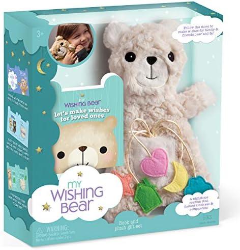 My Wishing Bear Book and Plush Set DIY Teddy Bear Stuffed Animal Builds Kindness Empathy and product image
