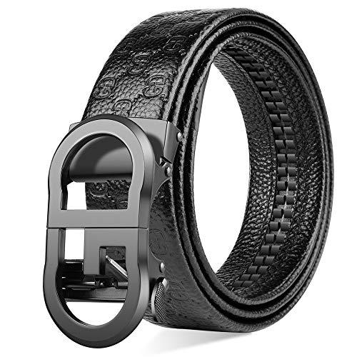 Xme Cinturón de hebilla automática de cuero para hombres, Cinturón casual de negocios para hombres, Cinturón para hombres