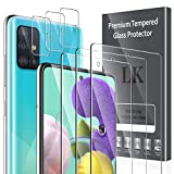 [6 Pack] LK 3 Pack Screen Protector + 3 Pack Camera Lens Protector for Samsung Galaxy A51 4G/5G, Tempered Glass,HD Ultra-Thin, Anti-Scratch
