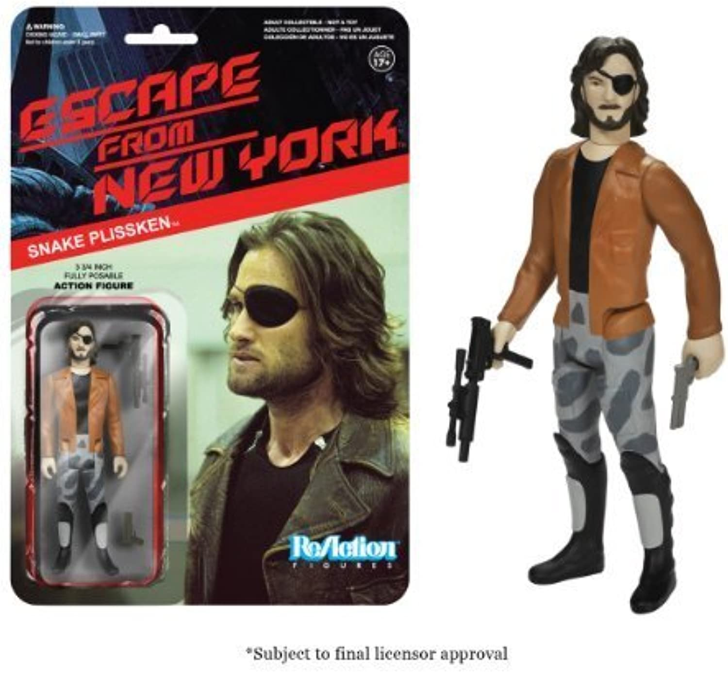 Funko Escape From New York ReAction Figure - Snake Plissken with Jacket by Funko
