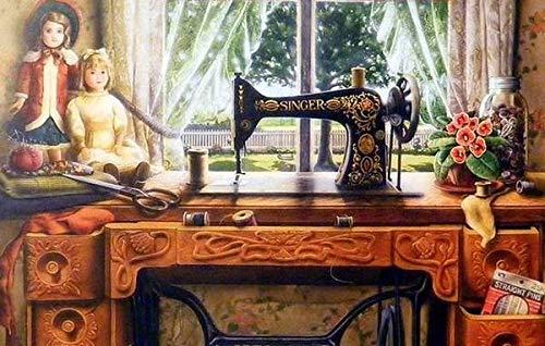 Jzxjzx schilderij om te knutselen, steen, vintage, machine, decoratie van het huis, kunst, handwerk, diamant, cadeau