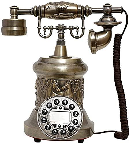 CWZY Teléfonos Decorativos Antiguos de Moda Teléfono Antiguo de Oficina, teléfono Digital Fijo Teléfono Vintage clásico Retro Retro Teléfono Fijo con Cable con Auriculares Colgantes para el hogar
