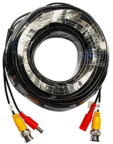ANNKE 60ft Video Power Cable Security Camera/DVR Cable with BNC Connectors (Black)