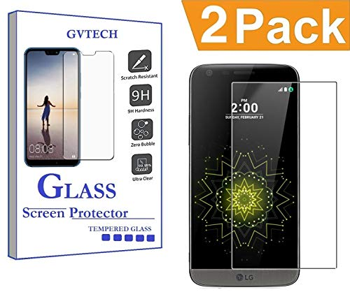 GVTECH for LG G5 Screen Protector, Tempered Glass Screen Protector[0.3mm, 2.5D][Bubble-Free][9H Hardness][Easy Installation][HD Clear] for LG G5(2 Pack)