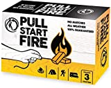 Pull Start Fire Pull String Firestarter Indoor Outdoor Or Camping Weatherproof Fire Starter (3 Pack)