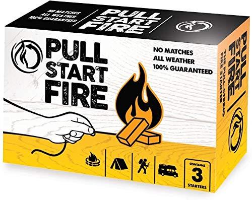 Pull Start Fire Pull String Firestarter Indoor Outdoor Or Camping Weatherproof Fire Starter (3 Pack)