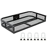 Black Widow ATVRB-3922 ATV Rear Rack-Mounted Steel Mesh Surface Cargo...