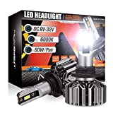 NOVSIGHT 9006 HB4 Headlight Bulbs,12000 Lumens 60W Super Bright LED Headlights Conversion Kits, 6000K Cool White Low Beam, Pack of 2