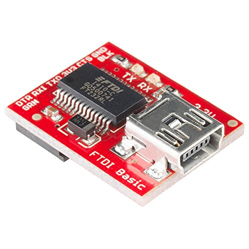 SparkFun FTDI Basic Breakout - 3.3V Development Tool with USB Mini-B Connector Save Space and Money in Your DIY Electronics Projects