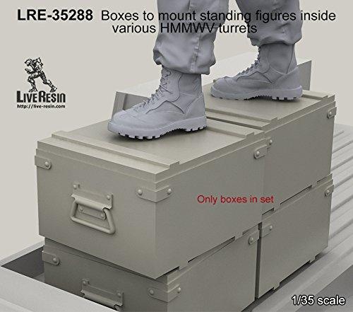 Live Resin 1:35 Boxes to Mount standing Inside Various HMMWV Turrets #LRE35288