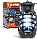 PYSUY Elektrischer Insektenvernichter, Insektenfalle Mückenlampe Wasserdicht, Moskito Killer Keine Giftigen Chemikalien 4200V für Innen Schlafzimmer und Aussen Gärten