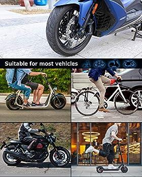 Oasser Antivol Moto Bloque Disque Alarme de 120db Acier Inoxydable imperméable ip65 pour Moto/Vélo/Scooter 800mah Batterie DB1 Gris
