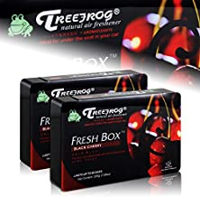 HK5 2 X Tree Frog Black Cherry Natural Extreme Car Air Freshener Fresh Box Universal