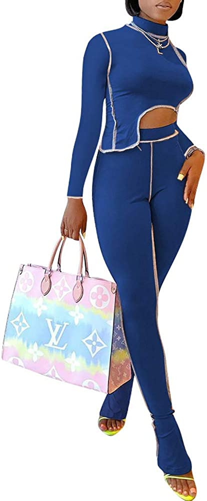 Two Piece Arlington Mall Outfits for Women Tracksuits Lon Stripe Print Zipper Max 62% OFF -