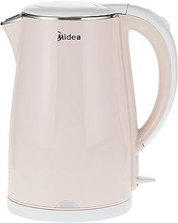 Midea Electric Kettle, 1.7 L, Double Wall Cool Touch Body, Light Orange, MKHJ1705R, 1 year warranty