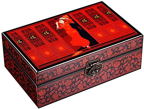 Joyeros Caja de joyería Caja de almacenamiento china de madera caja de almacenamiento caja de joyería caja de laca caja de joyería