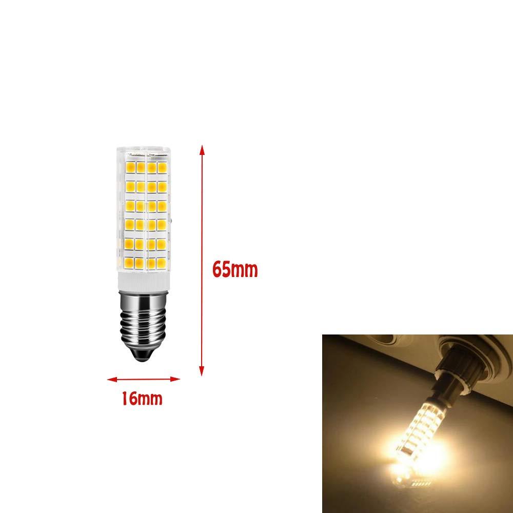 ougeer Pack de 10 E14 LED bombilla 7 W 3000 K luz blanca cálida AC 220 – 240 V 650lumens, no regulable, rosca Edison pequeña, bombilla E14 65 W Bombilla halógena de repuesto: Amazon.es: Iluminación