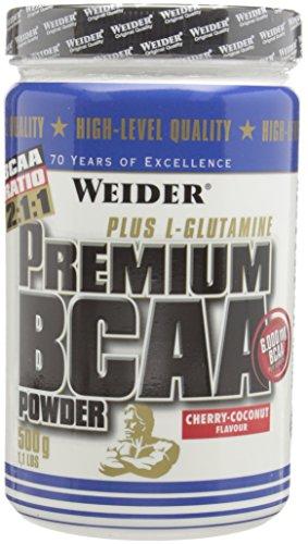 Weider Premium BCAA Powder Plus Glutamine, Cherry Coconut, High Quality Post-Workout, 6,000mg BCAA, 500g
