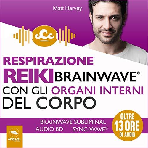 Respirazione Reiki Brainwave con gli organi interni del corpo copertina