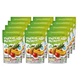 Freeze-Dried Fruit Mix by Vitalio – Tropical Pleasure (12x20g) – Banana, Pineapple, Mango – Healthy Fruit Snack – 100% Pure Fruit – No Additives – Rich in Nutrients, Vitamins