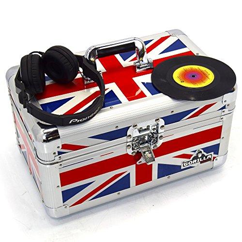 Gorilla Cases, Koffer für 7-Zoll-Schallplatten (17,5 cm), robust, Platz für 200 Schallplatten