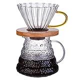 Kasfam Caffettiera Macchina per caffè Americano Macchina da caffè Alta borosilicato Macchina per caffè Filtro per caffè