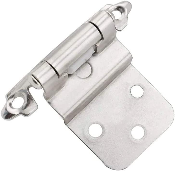 SZXJJ 20PCS Mount Self Closing 3 Max 79% OFF inch Hinges Cabinet 8 Nic Max 42% OFF Inset