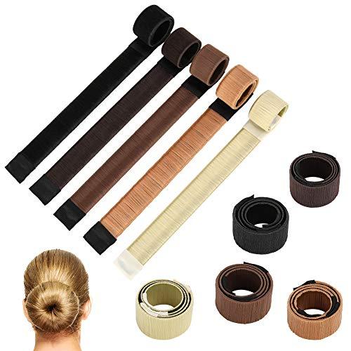 Hellomagic Magic Hair Chignon Maker 10 pcs Rapide et Facile DIY Chignon Cheveux Chignon Twist Maker Maker pour Mariage Yoga Dancing Party