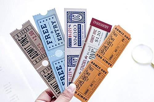 EPISKEYER 30 Teile/satz Vintage Kino Tickets Lesezeichen Neuheit Tickets Buchseite Marker Zum Lesen