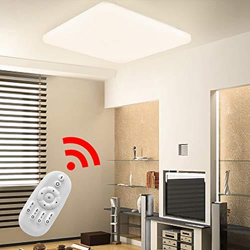 HENGMEI 36W Lámpara de techo LED Ultradelgado Plafón de techo Dimmable LED...