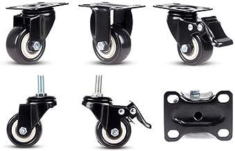 2 inch gasten X1 Flatbed Universal Wheel Meubilair Georiënteerd Karwielen Heavy Metal Mute met rem (Color : E, Size : 2 inch)