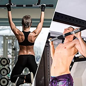Achirarko Pull Up Bar,New Perfect Multifunctional Portable Indoor Fitness Chin Up Bar,Home Gym Exercise Equipment Training Upper Body Workout Bar,Dips Situps Pushups Bar