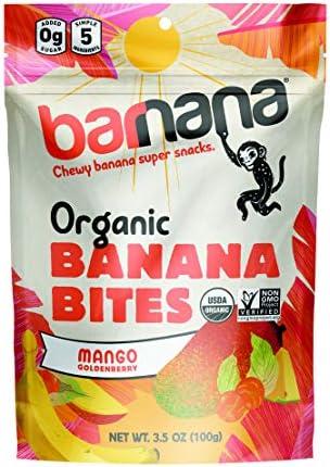 Barnana Organic Chewy Banana Bites Tropical 3 5 Ounce Delicious Barnana Potassium Rich Banana product image