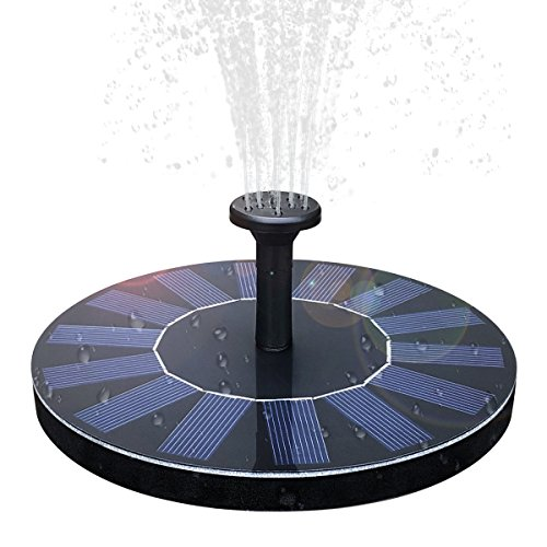 Solar Birdbath Fountain,1.4W Solar Panel Kit Water Pump Solar Powered Floating Fountain Kit Solar Water Fountain for Bird Bath Pond, Pool and Garden Decoration