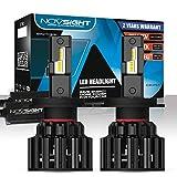 NOVSIGHT Kit de Conversion Ampoules H4 LED de Voiture,Phares de Auto 20000LM(10000LMx2) 100W(50Wx2)6000K Blanche pour remplacement Ampoules Halogènes/Xénons