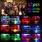 Joyibay LED Brillen für Party, 12 Paare Partybrille LED Leuchtend Set Lustige 2021 Brillen Party...