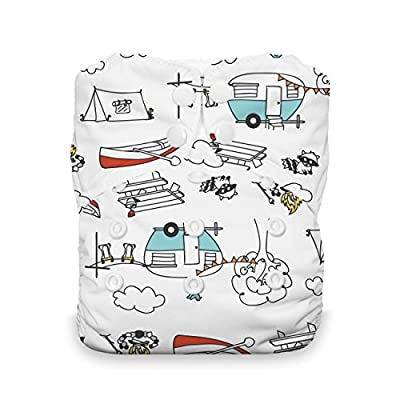 Thirsties One Size All in One Cloth Diaper, Snap Closure, Happy Camper