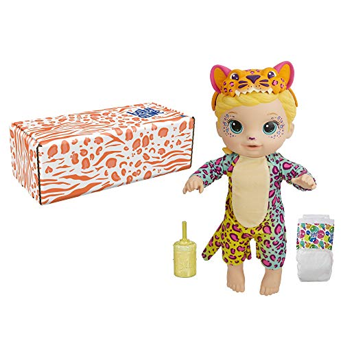 Baby Alive Rainbow Wildcats Doll, Leopard, Accessories, Drinks, Wets, Leopard Toy for Kids Ages 3 Years and Up, Blonde Hair (Amazon Exclusive)
