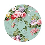 Fityle Waterproof Anti-Slip Round Table Cloth,Plastic Table Covers,Table Protector,Round Tablecloth,Easter Table Cloths Outdoor Tablecloth Round Plastic Tablecloth,F - 120cm, (48 Inch)