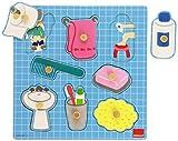 Goula- Bathroom Puzzle 8 pcs, Multicolor (Diset 53032)