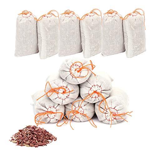 Brite Lightingtech Cedar Chips for Clothes Storage, 100% Natural Red Cedar Bags for Closets and Drawers Total 15 Cedar Bags and 15 Cedar Balls