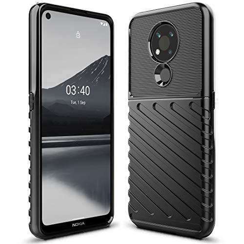 Sucnakp Nokia 3.4 Case Shock Absorption Anti Scratch Heavy Duty Durable Drop Protection Cell Phone Cover for Nokia 3.4(LT Black)