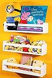 Nature Supplies Set 3 weiße Massivholz-Wandregale - Kinderzimmer - Ideal für Bücher und Spielzeug