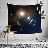 Tapiz de Pared Universo Galaxia y Estrella,Morbuy Creativo Decoración Tapices Galaxy Impreso Tapicería Cubierta del Sofa Manteles Cortina Picnic Blanket Playa Accesorio Casero (Pequeño (130 x 150 cm), Universo tranquilo)